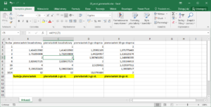 Excel - obliczanie pierwiastków w Excel