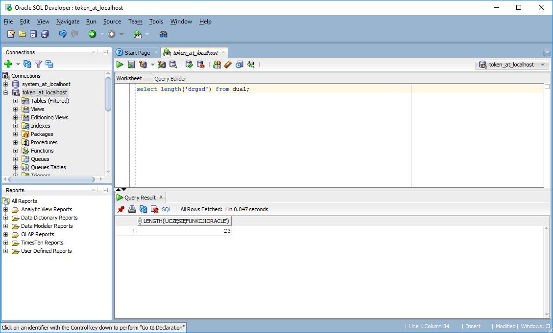Funkcje Oracle SQL – Funkcja Length Oracle