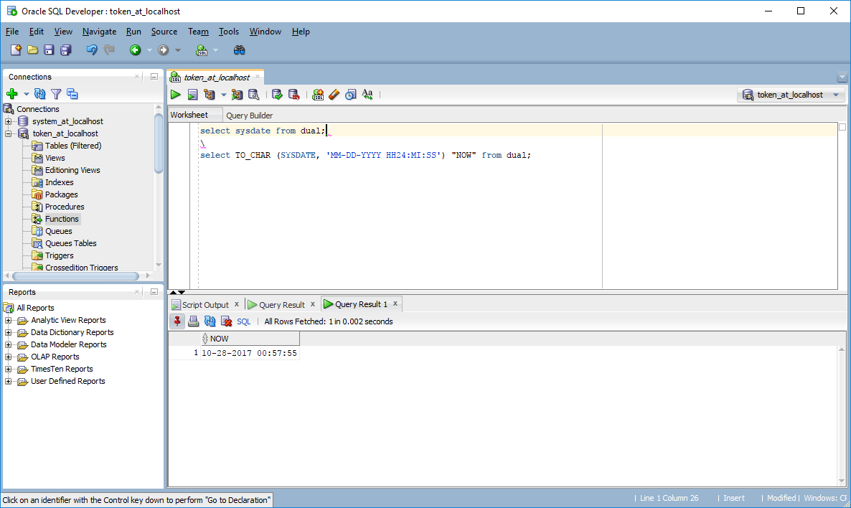 Funkcja Sysdate Oracle